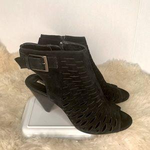 Audrey Brooke Sandal Open Toe Boot Heels Size 9.5
